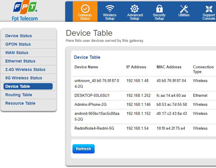 chặn wifi fpt bước 2