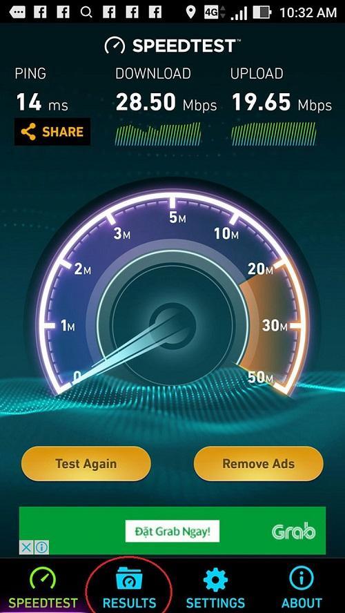 đo tốc độ mạng wifi trên điện thoại