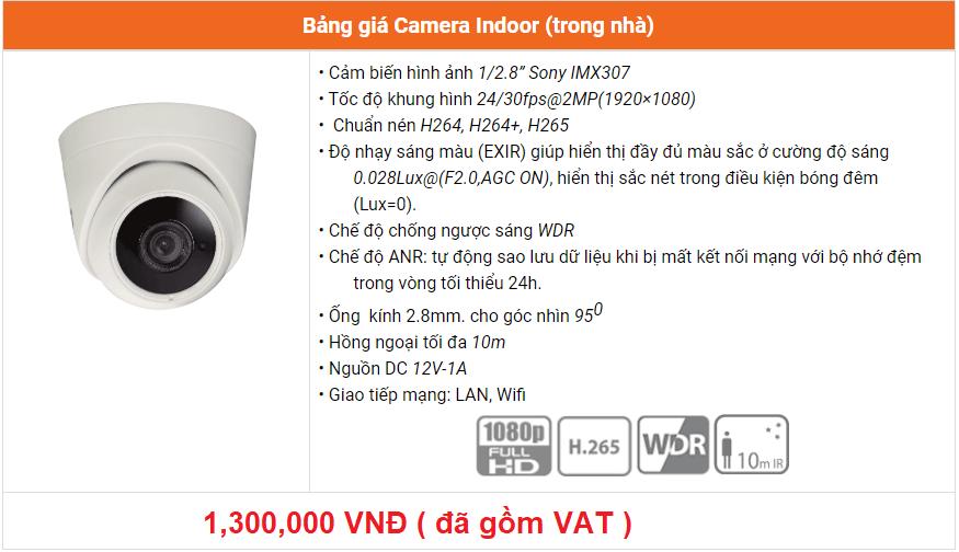báo giá camera indoor