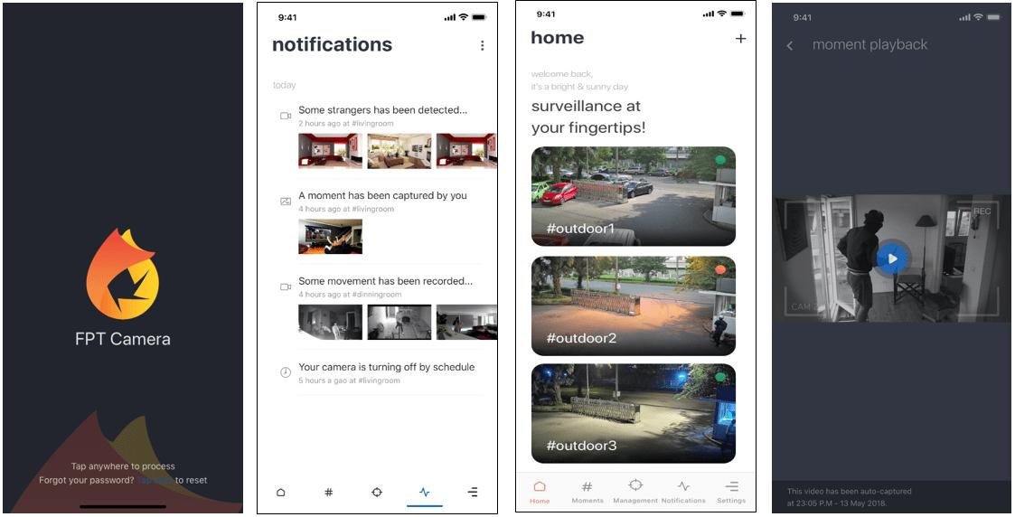 hình ảnh về ứng dụng fpt camera