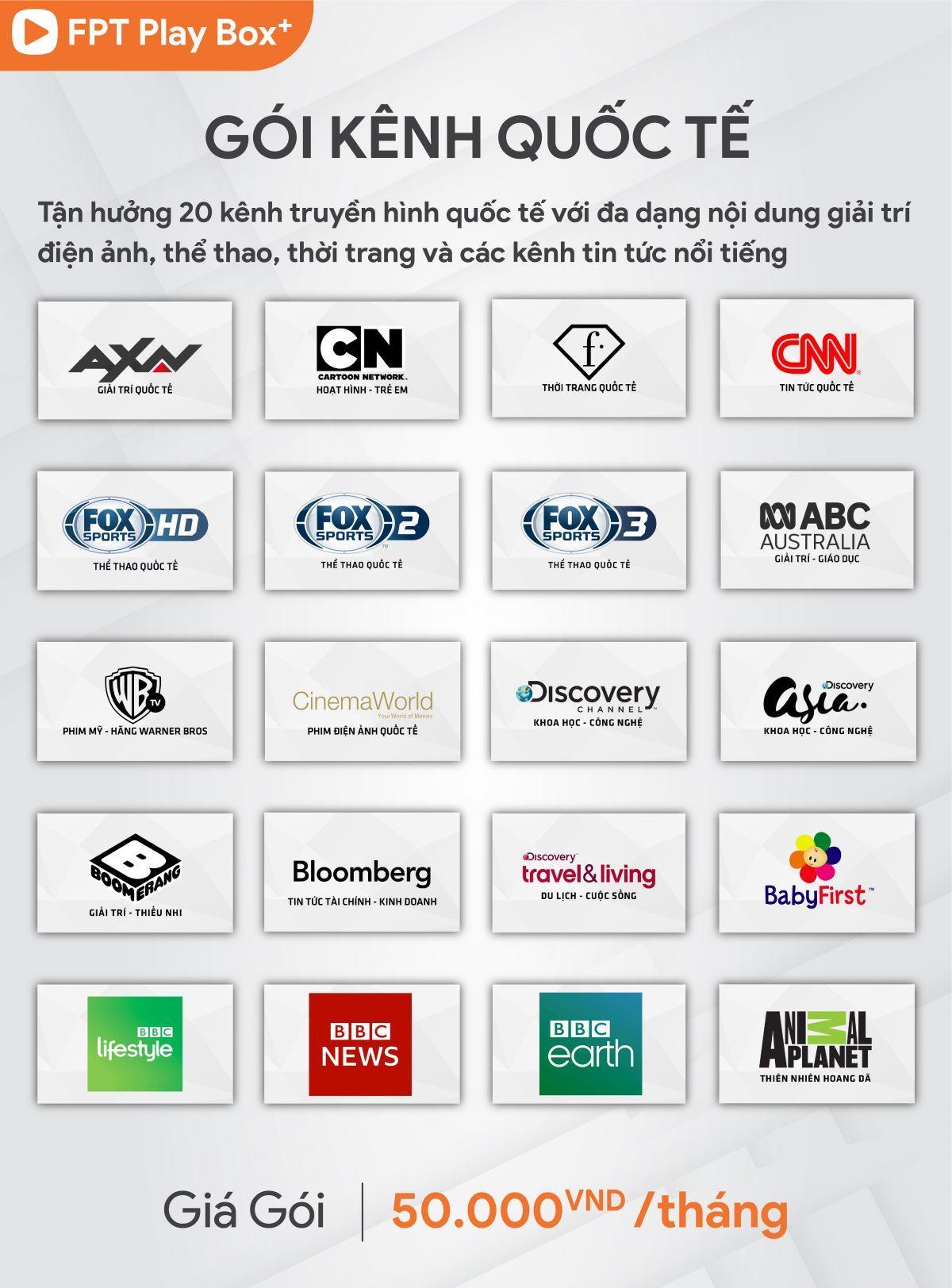 gói kênh quốc tế