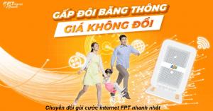 chuyển đổi gói cước internet fpt