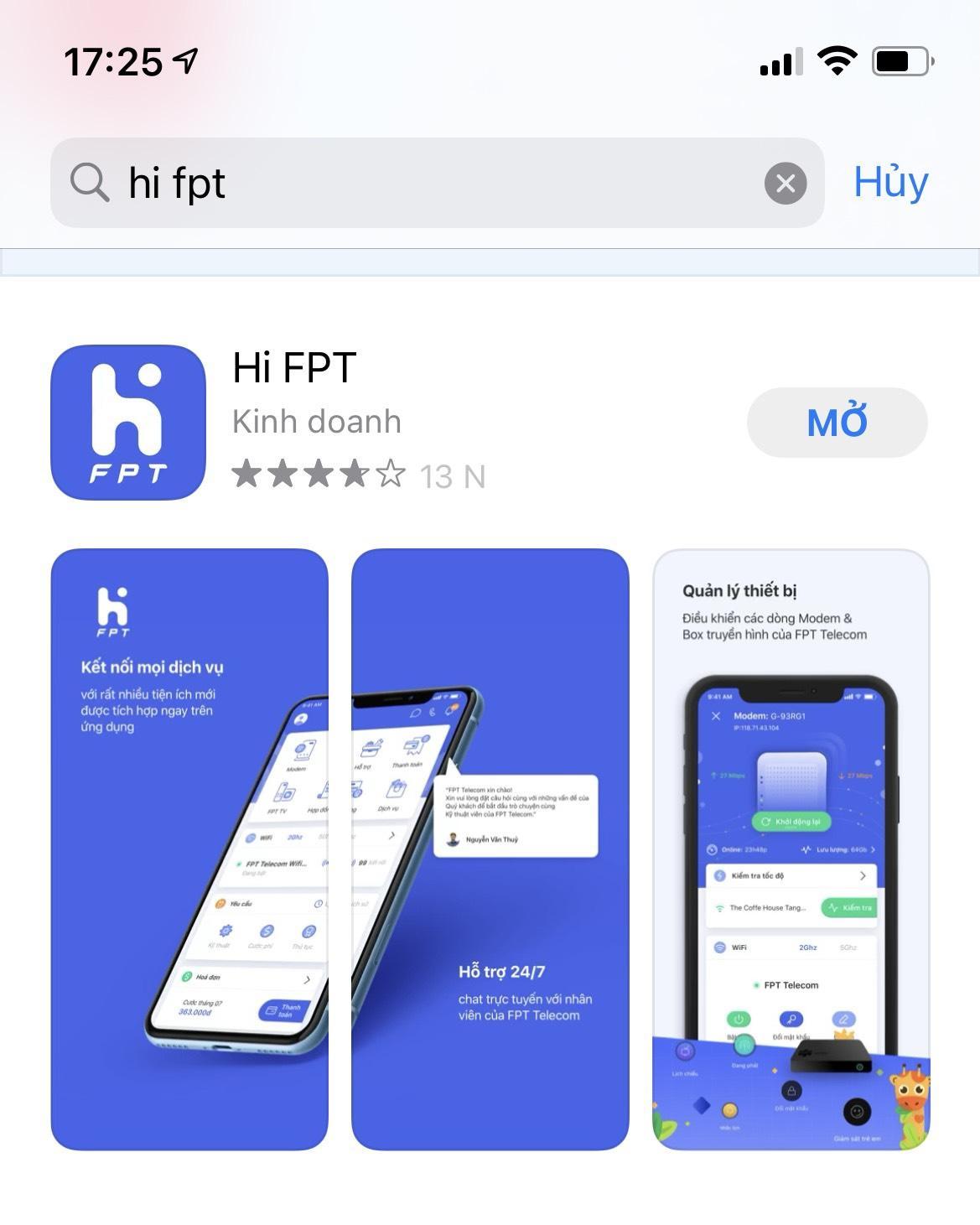 ứng dụng hi fpt